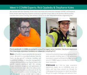 Meet V-COMM Experts Rick Opalesky and Stephanie Koles